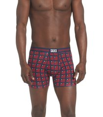 saxx quest pin dot mesh boxer briefs, size x-large in navy at nordstrom