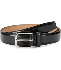 cole haan men's brushed leather belt - black - size 36
