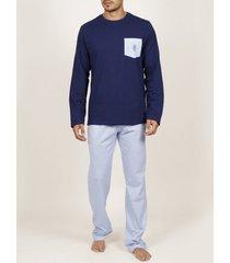 pyjama's / nachthemden admas for men frisse en zachte adma's homewear top broek
