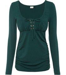 maglia con allacciatura (verde) - bodyflirt boutique