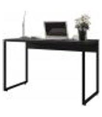 mesa para escritório e home office industrial soft f01 preto fosco - lyam decor