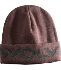 wolverine logo watch cap peppercorn heather, size one size