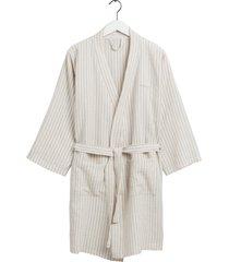 stripe robe morgonrock badrock creme gant