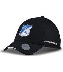 gorra oficial negra millonarios otocaps fmic-002 negra