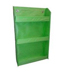 revisteiro prateleira montessoriano organibox - verde limáo