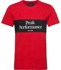 m original seasonal tee blue shadow t-shirts short-sleeved röd peak performance