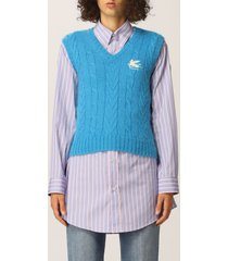 etro waistcoat etro vest with pegasus logo