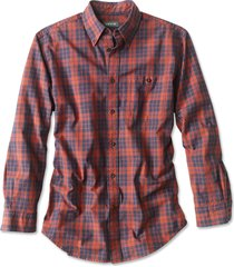 signature twill long-sleeved shirt / regular, navy/red, xx large