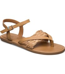 h y veg tan leather/synthetic braid shoes summer shoes flat sandals beige toms