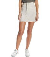 oat high-rise a-line mini skirt
