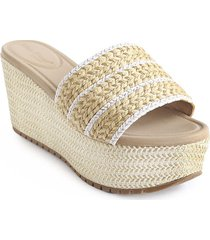 priceshoes sandalia plataforma confort dama 462keylabeige
