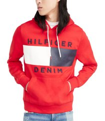 tommy hilfiger denim men's brooks logo-print hoodie