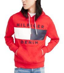 tommy hilfiger denim men's brooks logo-print hoodie