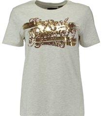 t-shirt the real foil grijs