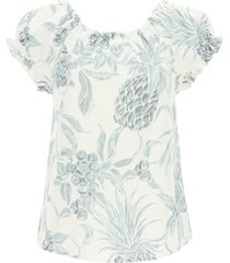 see by chloé spring fruits print top