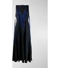 loewe silk lace knit dress