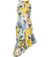 abito con balza (giallo) - bodyflirt boutique