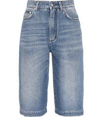 cotton denim bermuda-shorts