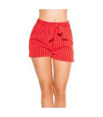 sexy zakelijke uitstraling shorts gestreept met strik rood
