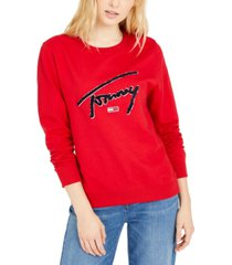 tommy jeans logo graphic sweatshirt