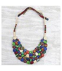 cotton statement necklace, 'everlasting friendship' (ghana)