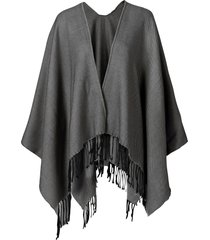 poncho in tinta unita (grigio) - bpc bonprix collection