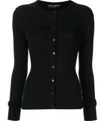 dolce & gabbana button-front cardigan - black