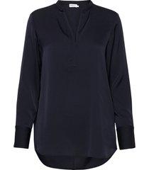 pull-on silk blouse blouse lange mouwen blauw filippa k