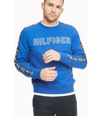 tommy hilfiger men's essential flag tape sweatshirt surf the web - xxl