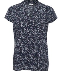 blouse short-sleeve blouses short-sleeved blå gerry weber edition