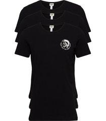 umtee-randalthreepack t-shirt t-shirts short-sleeved svart diesel men