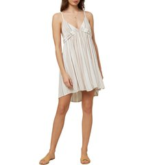 o'neill saltwater solids stripe cover-up tank dress, size x-small in dawn at nordstrom