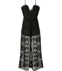 alice mccall lace overlay jumpsuit - black