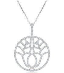 natori kamon diamond pendant necklace, women's, gold natori