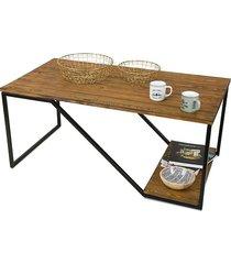 stolik kawowy drewniany loft modrzew 120 cm