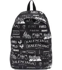 'wheel paris' logo print backpack