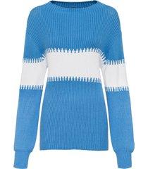 maglione bicolore (blu) - rainbow
