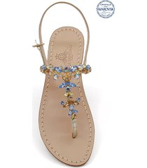 scopolo jewel thong sandals