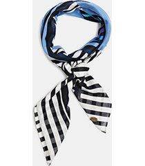 bufanda a rayas 100% algodón azul esprit