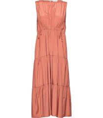 abril maxiklänning festklänning rosa mango
