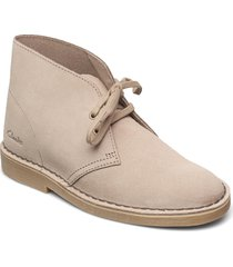 desert boot 2 shoes boots ankle boots ankle boot - flat beige clarks