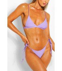 mix & match glitter triangle bikini top, lilac