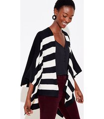loft striped poncho