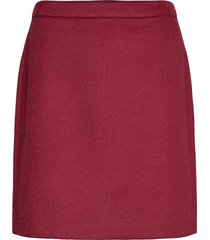 skirts woven kort kjol röd esprit collection