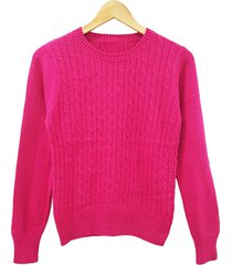 sweater fucsia mecano classic