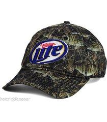 miller lite camouflage beer hunting cap/hat - osfm