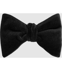 reiss hike - velvet bow tie in black, mens