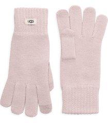 ugg women's knit tech gloves - black