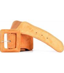 cinturón elástico con gamuza taupe mailea