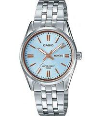 ltp-1335d-2av reloj dama doble calendario azul